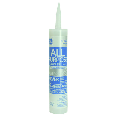 GEå¨ Silicone I Window & Door Caulk, 9.8 oz. Cartridge, Clear