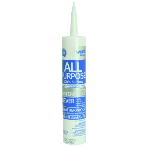 GEå¨ Silicone I Window & Door Caulk, 9.8 oz. Cartridge, White