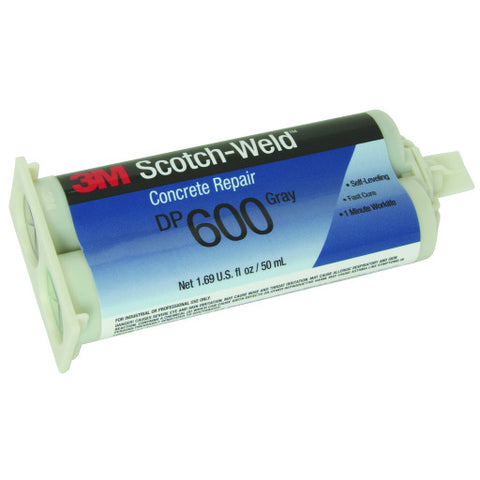 Scotch-Weld䋢 Concrete Repair, Self-Leveling, DP600, Gray, 50 Ml