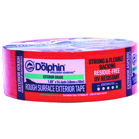 "Blue Dolphin䋢 Rough Surface Exterior Tape, 2"", 1.88"" X 54.6 Yd., Orange"