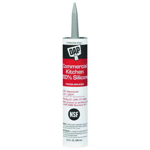 Commercial Kitchen Silicone Sealant, 9.8 oz. Cartridge, Clear