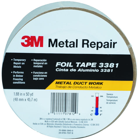 "Hvac General Purpose Foil Tape 1.88"" X 49.33 Yd."