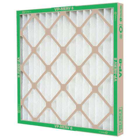"Vp MERV 8 Standard-Capacity Extended Surface Pleated Air Filter, 24X25X1"", Case of 12"