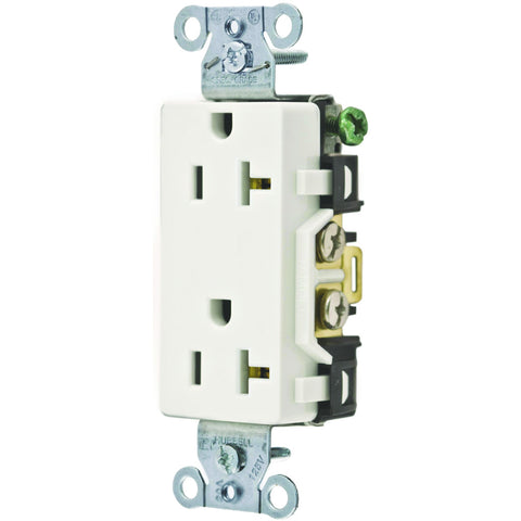 Commercial Grade 20 Amp Decorator Duplex Receptacle