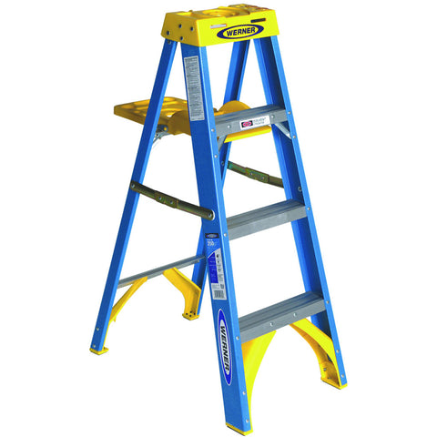 Type 1 Fiberglass Stepladder, 4'