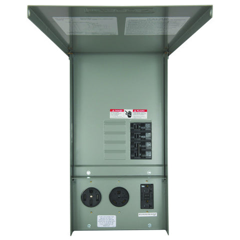 Siemens Power Outlet Panel with Receptacles, Unmetered, Surface Mount, 125 Amp Main Lug, 14-50R, Tt30R, 5-20R2Gfi
