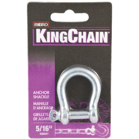 Anchor Shackle, Zinc, 5-16 In., 1 Per Card