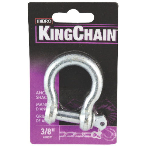 Anchor Shackle, Zinc, 3-8 In., 1 Per Card