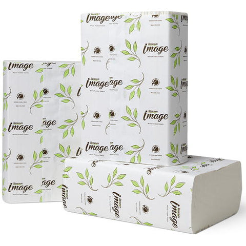 "9.13"" x 9.5"" Bright White Renownå¨ Image Multifold Paper Towels (12 250-Count Packs per Case)"