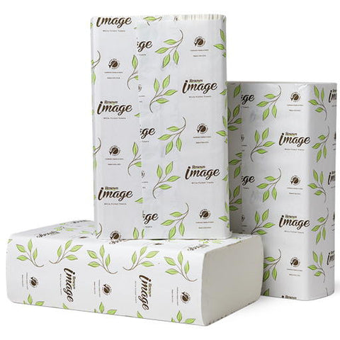 "10.25"" x 9.5"" Bright White Renownå¨ Image Opti-Fold Luxury Paper Towels (12 250-Count Packs per Case)"
