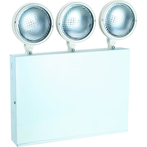 Emergency Light with 3 Adjustable Head, Ul Listed, Suitable for Damp Locations