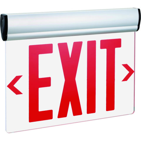 Exit Sign Double Face Mirror Surface with Red Letters, Ul Listed, Suitable for Damp Locations
