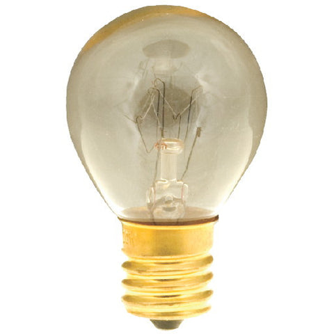 Satco Incandescent Sign Lamp S11, 10 Watt, 115-125 Volt, Intermediate Base, Clear, 1,500 Average Rated Hours, 10 Per Box