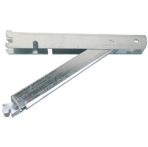 Fast Mountå¨ Double Shelf Bracket, Galvanized Steel, With Support, 10 In.