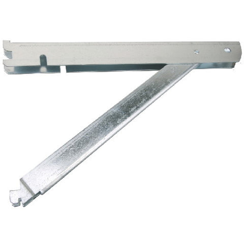 Fast Mountå¨ Double Shelf Bracket, Galvanized Steel, With Support, 14 In.