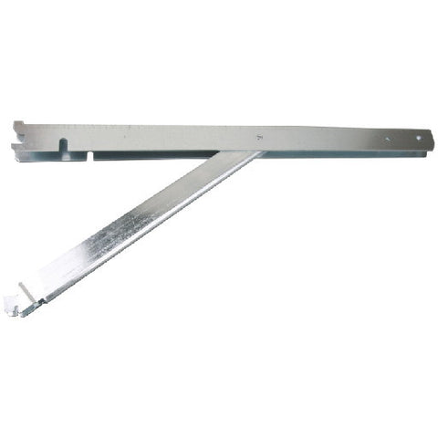 "20"" FAST-MOUNT䋢 Galvanized Steel Double Shelf Bracket with Support"