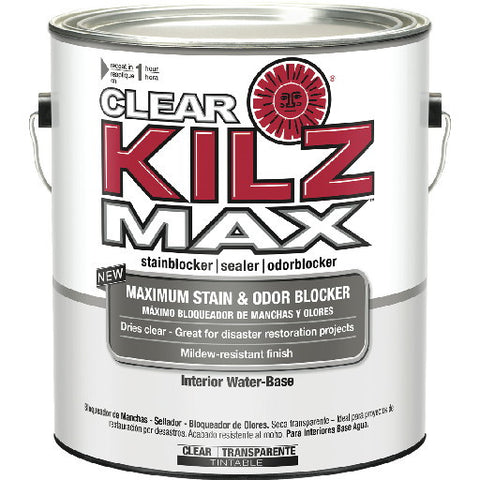 1 Gallon KILZ MAXå¨ CLEAR Water-Based Interior/Exterior Primer