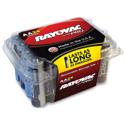 Rayovacå¨ Ultra Pro AA Alkaline Batteries, Contractor Pack, 24-Pack