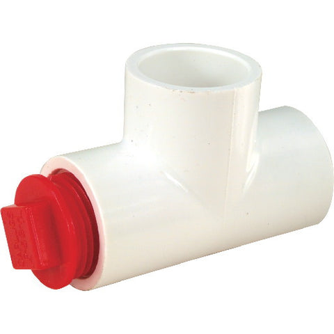 "Hvac Cleanout Tee With Plug, 3/4"", 50 Tees Per Case"