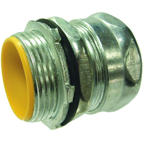 "Raintight Insulated Steel Emt Compression Connector, 1-1/2"" Trade Size"