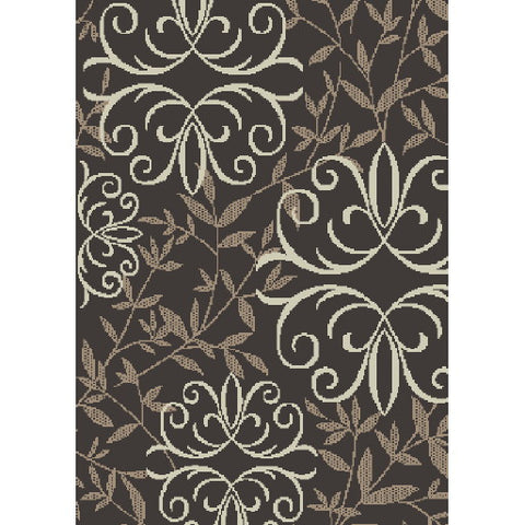 "Orian Rugs Iron Fleur Chocolate Accent Rug, 31"" X 45 In."