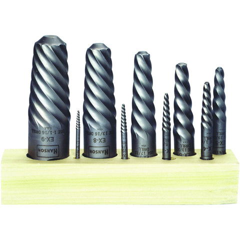 Spiral Screw Extractor Set 9 Piece (Ex1 to Ex9)