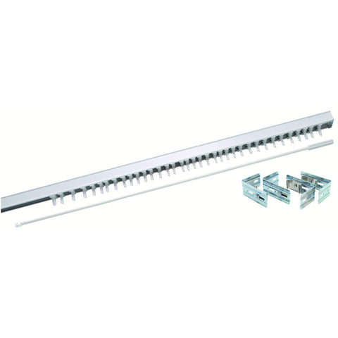 White Vertical Blind Steel Headrail with Wand