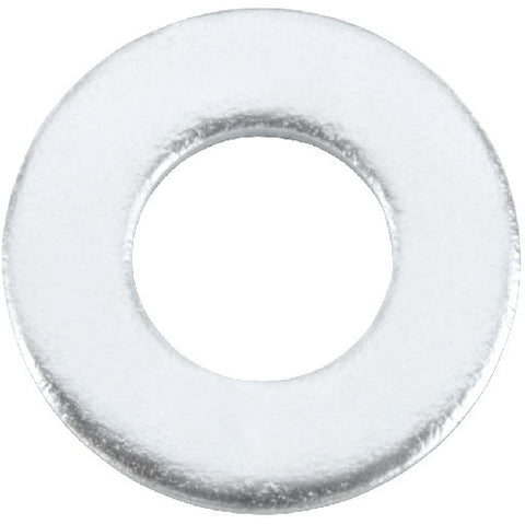 Zinc Flat Washer, 1-4 In., 100 Per Pack