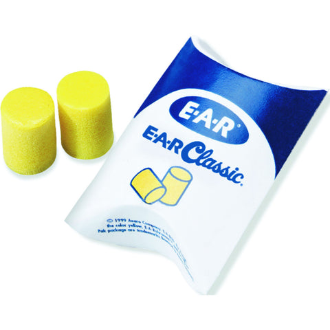 E-A-R䋢 Classic䋢 Cordless Foam Earplugs In Pillow Pack, 200 Pairs per Box