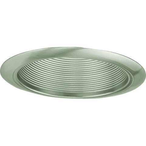 "Recessed Lighting 6"" Brushed Nickel Baffle with Brushed Nickel Trim Ring"