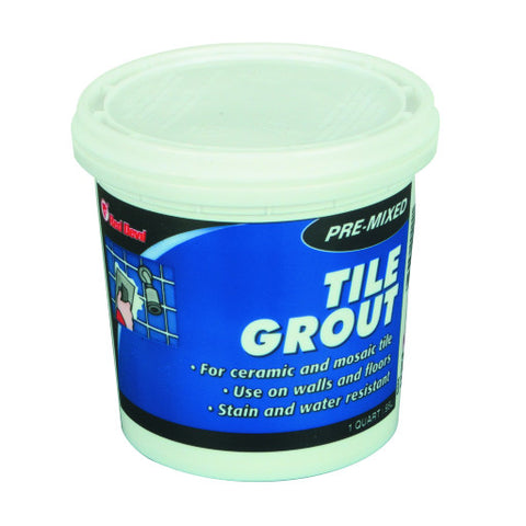 Pre-Mixed Wall Grout White, 1 Quart