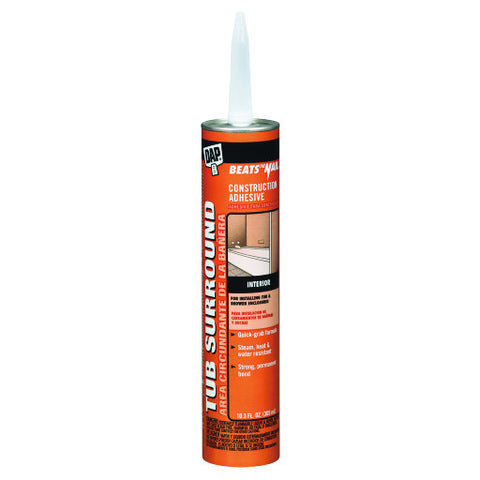 Tub Surround and Shower Wall Voc Compliant Adhesive Clear 10.3 oz.