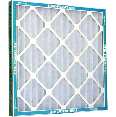 "Case of 12 MERV 7 Pre-Pleat 40 LPD 2"" Economy Cotton / Synthetic Air Filters"
