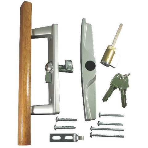 Patio Door Lock and Handle Aluminum With Key Lock