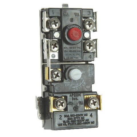 Apcom Wh10-6 High-Limit Upper Water Heater Thermostat, 2 Elements