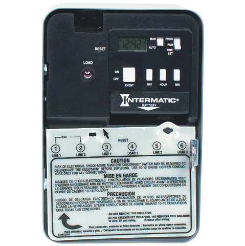 Electronic 7 Day Water Heater Timer Switch, 120 Volts