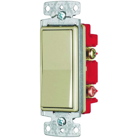 Rocker Switch 4 Way 15 Amps 120 to 277 Volts Ivory