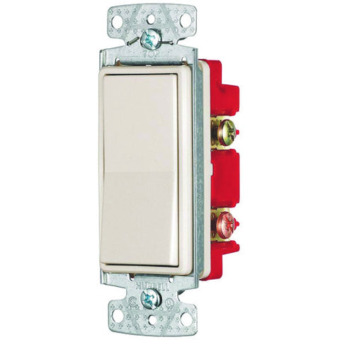 Rocker Switch 4 Way 15 Amps 120 to 277 Volts Almond
