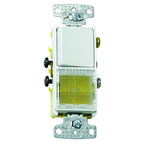 Rocker Switch Illuminated White