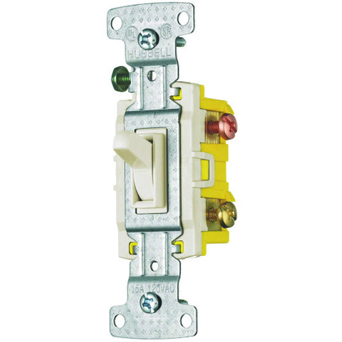 Toggle Switch 3 Way 15 Amp 120 Volt Almond