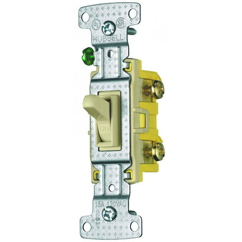 Toggle Switch 3 Way Illuminated 15 Amp Ivory