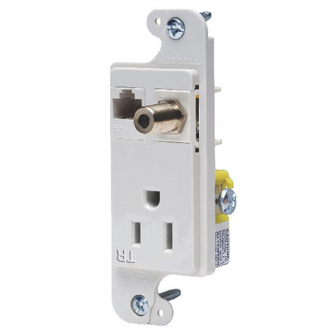 Jload Mm Outlet 15A Tr White