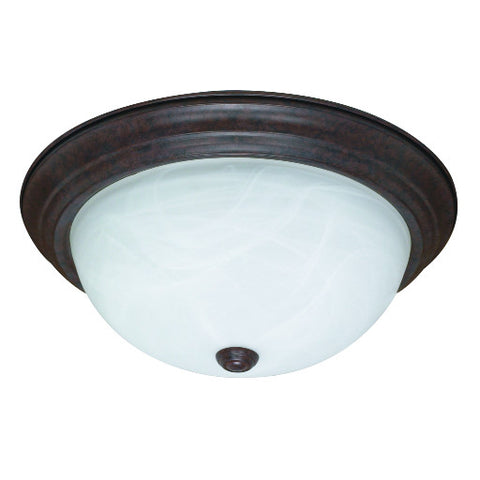 "Decorative Ceiling Fixture, Maximum Two 60 Watt Incandescent Medium Base Bulbs, 13-1/4"", Oil Rubbed Bronze"