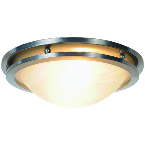 "14"" Brushed Nickel Contemporary Flush Mount Ceiling Light Fixture"