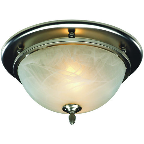 Broanå¨ Satin Nickel Decorative Bath Fan and Light with 70 CFM