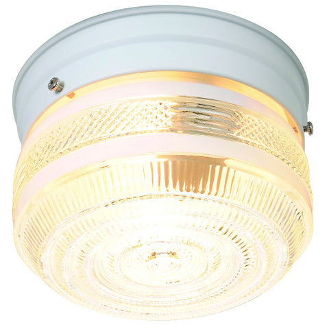 "Flush Mount Ceiling Light 6"" White"