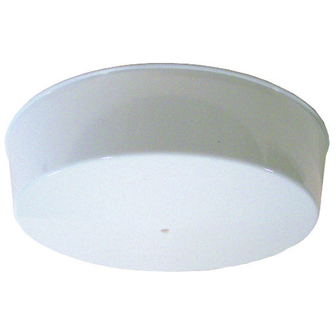 "Ceiling Fixture with Plastic Cover, Uses One 22 Watt Circline Type Fluorescent Lamp, 9"" Base and 12"" Cover, White"