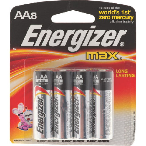 Energizer Max Battery AA Alkaline, 8 Pack