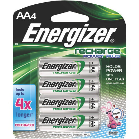 Energizer Battery AA Nimh Rechargeable, 4 Pack