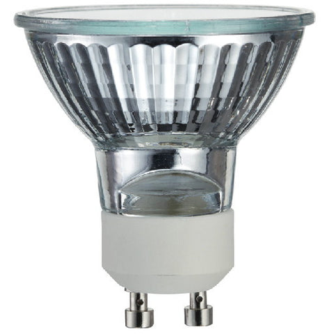 Satco Halogen M-Series Lamp, Mr16, 50 Watt, 120 Volt, Gu10, Clear, 3000 Hrs, 25Deg